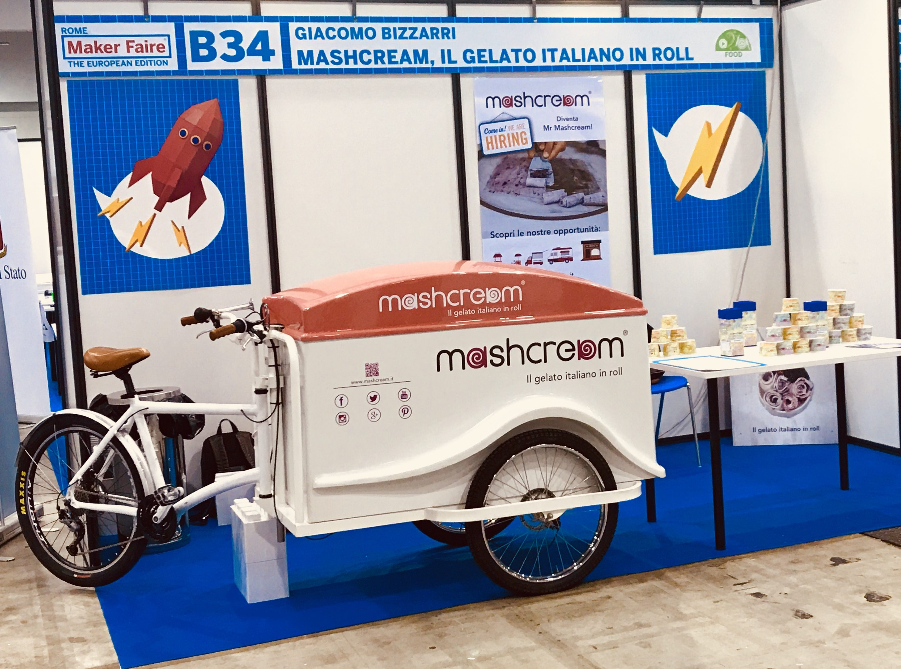 Maker Faire Rome 2017 Mashcream gelato startup innovazione food innovation Fiera Roma