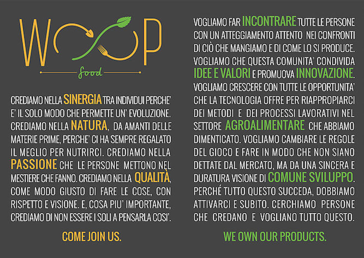 Woop Food Agroalimentare italiano Crowdfunding Mashmallow blog Mashcream