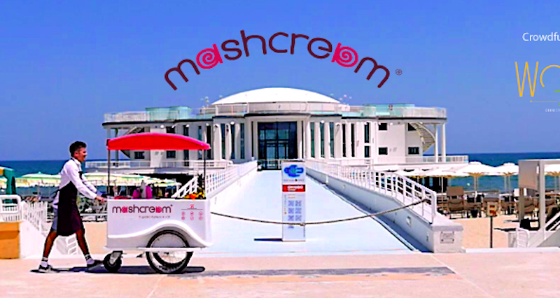 Mashcream sweetbike gelato ice cream Rotonda mare senigallia fiat 500 Mashmallow blog Mashcream