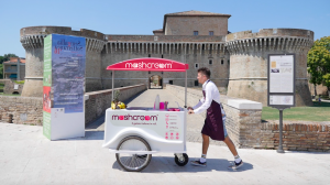 Mashcream sweetbike rocca roveresca senigallia gelato ice cream crodfunding Mashmallow food blog