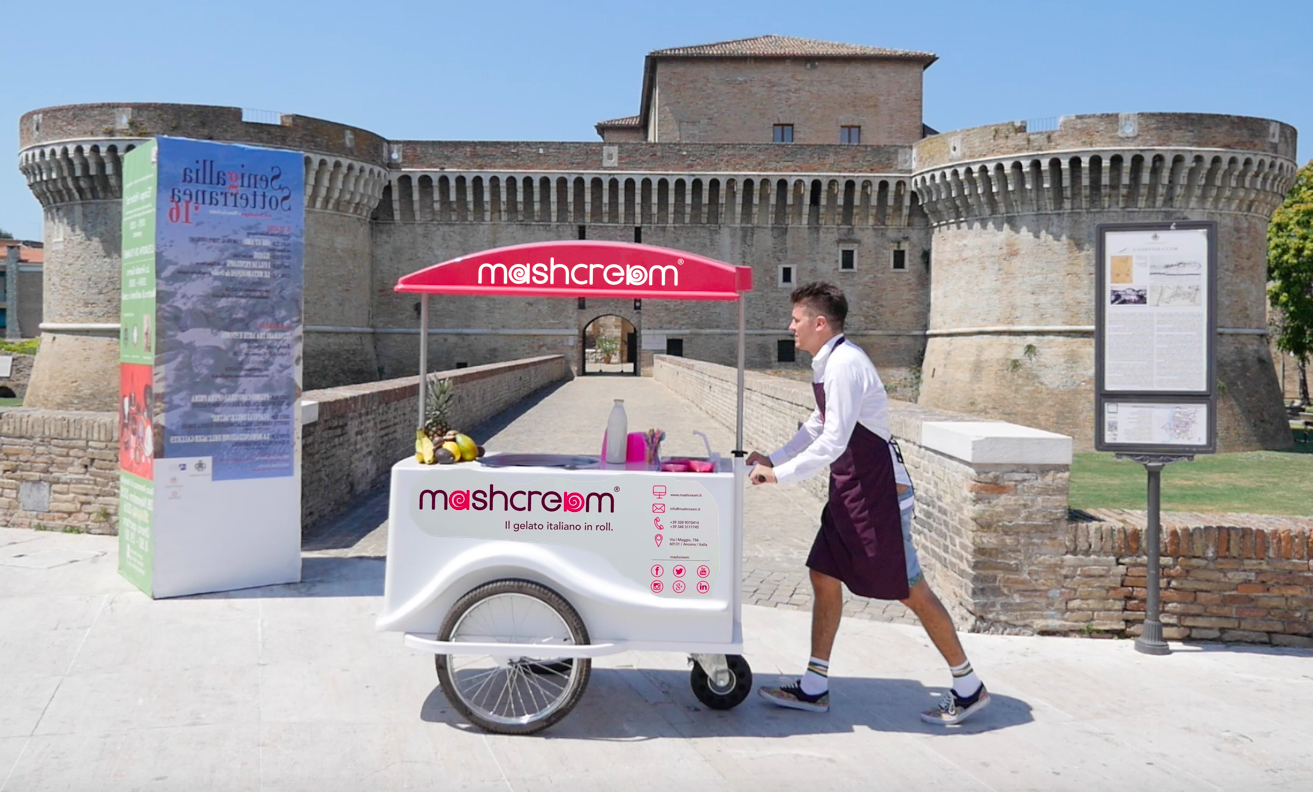 Mashcream sweetbike rocca roveresca senigallia gelato ice cream italia